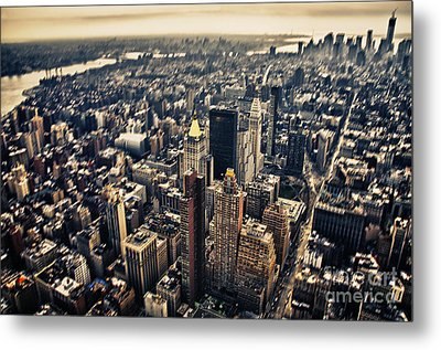 Manhattan Metal Print by Alessandro Giorgi Art Photography