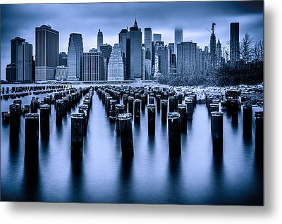 Metal Print featuring the photograph Manhattan Blues by Chris Lord