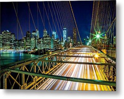 Manhattan Bound Metal Print by Az Jackson
