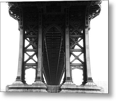 Manhattan Bridge Metal Print by Adam Garelick