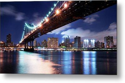 Manhattan Bridge Metal Print