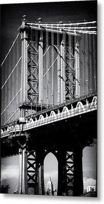 Manhattan Bridge Noir Metal Print by Jessica Jenney
