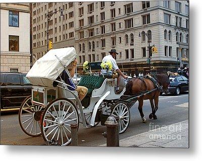 Manhattan Buggy Ride Metal Print by Madeline Ellis