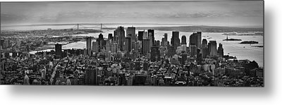 Manhattan Cityscape Metal Print by Andreas Freund