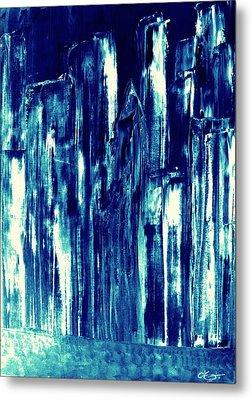 Manhattan Nocturne Metal Print