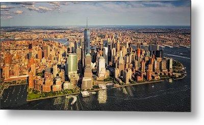 Manhattan Nyc Aerial View Metal Print by Susan Candelario