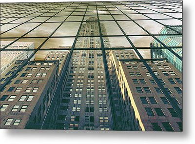 Metal Print featuring the photograph Manhattan Reflected by Jessica Jenney