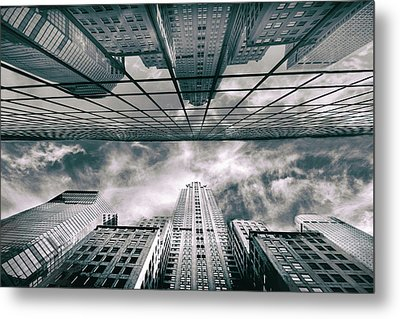 Metal Print featuring the photograph Manhattan Reflections by Jessica Jenney