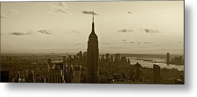 Manhattan Sky View Metal Print by Terry Cork