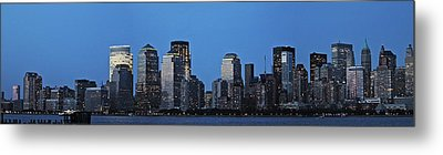 Metal Print featuring the photograph Manhattan Skyline by John Haldane