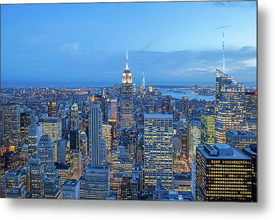 Manhattan Skyline New York City Metal Print by Az Jackson