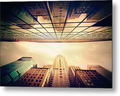 Metal Print featuring the photograph Manhattan Skyline Reflections by Jessica Jenney