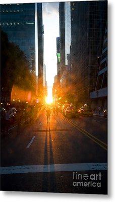 Manhattanhenge New York 2 Metal Print by Design Remix