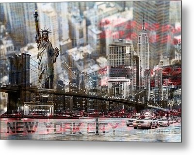 Metal Print featuring the photograph Manhatten From Above by Hannes Cmarits