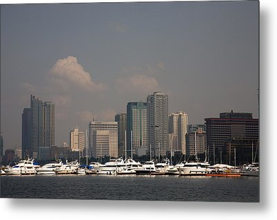 Manila Bay.  Metal Print by Christopher Rowlands
