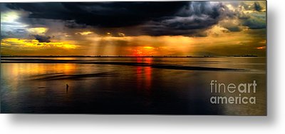 Manila Bay Sunset Metal Print