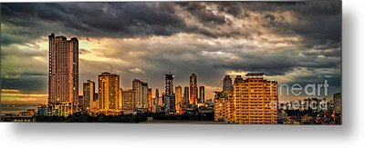Manila Cityscape Metal Print by Adrian Evans