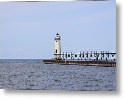 Manistee Lighthouse Metal Print by Chuck Bailey