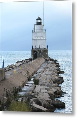 Manitowoc Breakwater Lighthouse  Metal Print by Keith Stokes