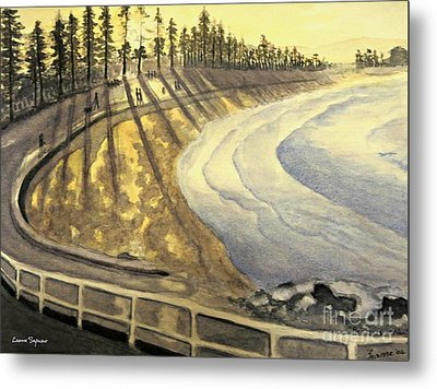 Manly Beach Sunset Metal Print by Leanne Seymour
