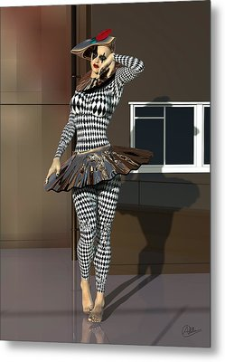 Mannequin Dressed Pierrette Metal Print