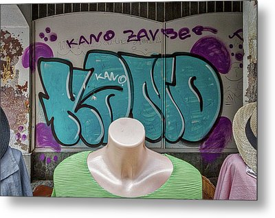 Metal Print featuring the photograph Mannequins And Graffiti by Stuart Litoff