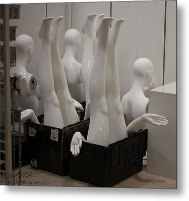 Mannequins Metal Print by Beverly Cash