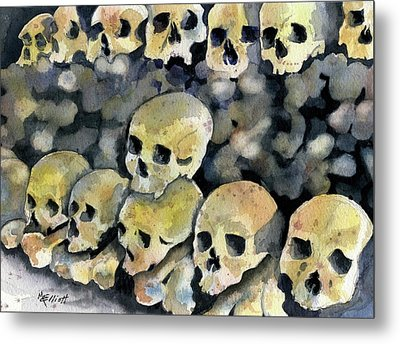Mans Inhumanity To Man Metal Print by Marsha Elliott