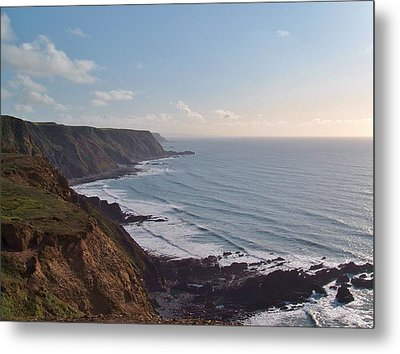 Mansley Cliff And Gull Rock From Longpeak Metal Print