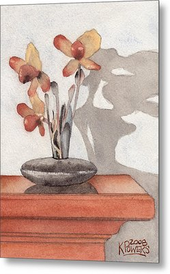 Mantel Flowers Metal Print by Ken Powers