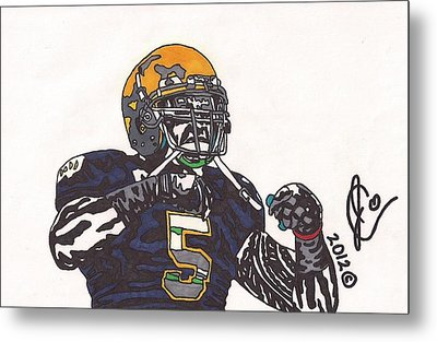 Manti Te'o 1 Metal Print by Jeremiah Colley