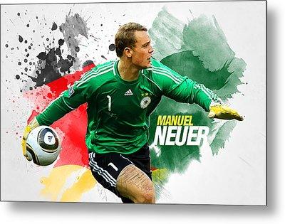 Manuel Neuer Metal Print