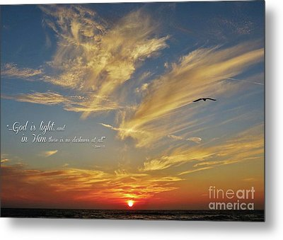 Many Colored Sunset Metal Print by John Groeneveld