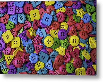 Many Colorful Buttons Metal Print