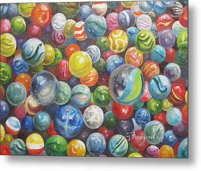 Many Marbles Metal Print
