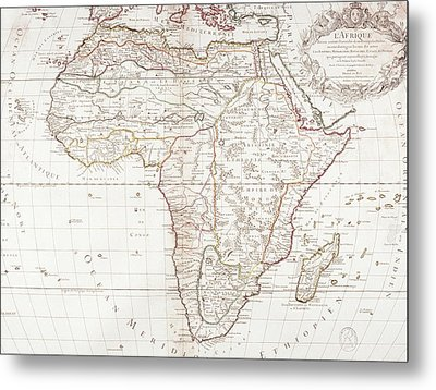Map Of Africa Metal Print by Fototeca Storica Nazionale