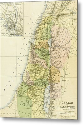 Map Of Canaan Or Palestine Metal Print