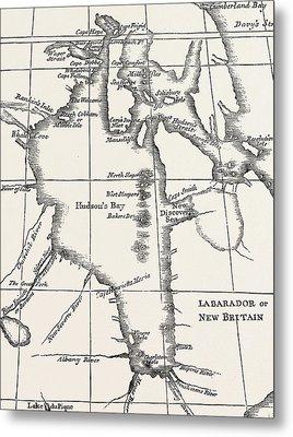 Map Of Hudson Bay Metal Print