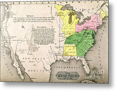 Map Of The United States Metal Print