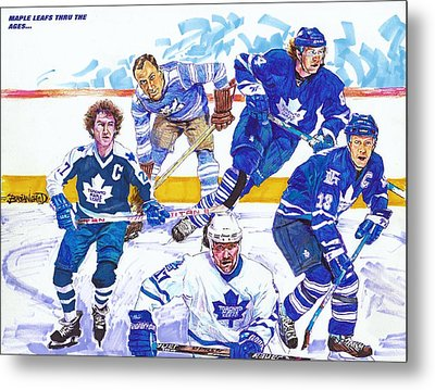 Maple Leafs Thru The Ages Metal Print by Brian Child