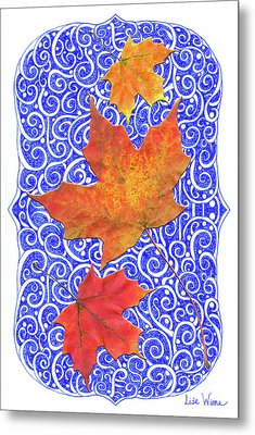 Maple Leaves Metal Print by Lise Winne