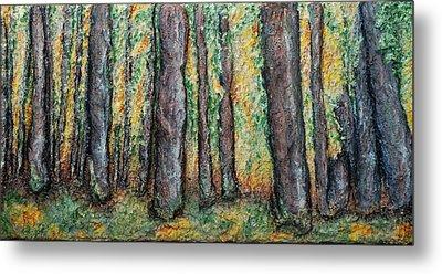 Maple Trees Metal Print by Alison  Galvan