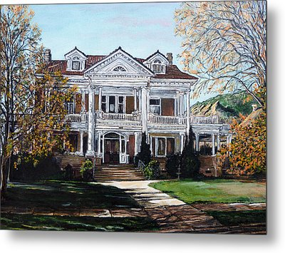 Mapleton Hill Homestead Metal Print by Tom Roderick