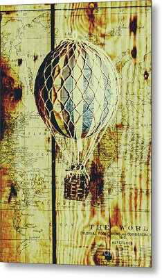 Mapping A Hot Air Balloon Metal Print by Jorgo Photography - Wall Art Gallery