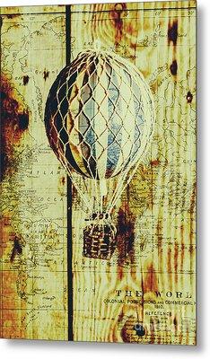 Mapping A Hot Air Balloon Metal Print