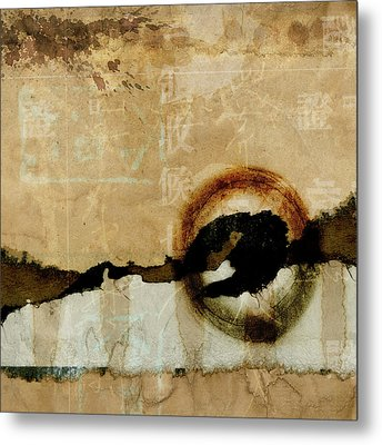 Mapping The Mountains Mixed Media Metal Print by Carol Leigh