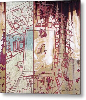 Maps #27 Metal Print