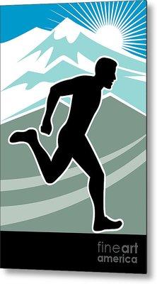 Marathon Runner Metal Print by Aloysius Patrimonio