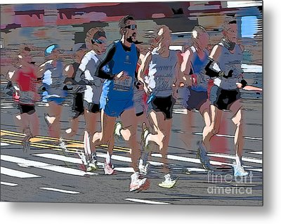 Marathon Runners I Metal Print by Clarence Holmes