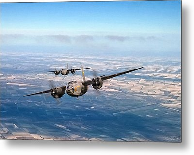 Marauder Twoship Metal Print by Peter Chilelli
